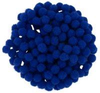 Pompons | color: royal blue | 200 pieces | size: 10 mm