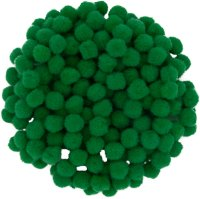 Pompons | color: green | 200 pieces | size: 10 mm
