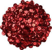 Sequins, color: red, shape: round, size: 9 mm, content:...