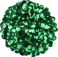 Sequins, color: green, shape: round, size: 9 mm, content:...