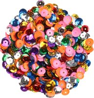 Sequins, colors assorted, shape: round, size: 9 mm,...