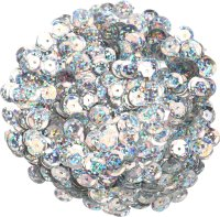 Sequins, color: silver-iridescent, shape: round, size: 9...