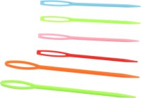Plastic embroidery needles assorted colors & sizes |...