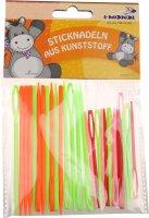 Sticknadeln aus Kunststoff | Größen & Farben sortiert | 30 Stück | Größen: 7 und 9 cm