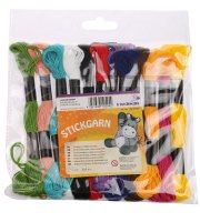 Embroidery yarn colors assorted | 12 bunch | length: 8 m