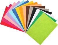 Felt sheets colors assorted | 15 pieces | size: 21x29 cm