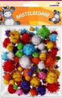 Glitter Pompons | Farben sortiert | 110 Stück |...