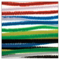 Chenille stems colors assorted | 25 pieces | size: 30 x...
