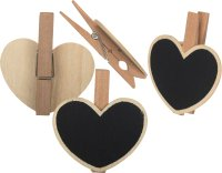 Tafelklammer-Herz | 4 Stück | Größe: 55 mm