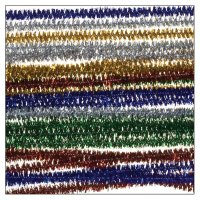 Metallic chenille stems colors assorted | 25 pieces |...