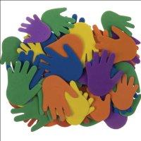 Moosgummi-Hände | 60 Stück | Größen...