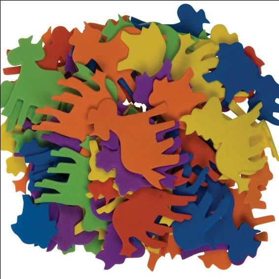 Moosgummi-Tiere | 120 Stück | Motive und Farben sortiert