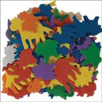 Moosgummi-Tiere | 120 Stück | Motive und Farben...