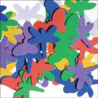 Moosgummi-Schmetterlinge | 50 Stück | Motive und...